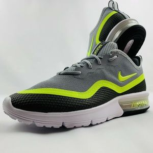 New Nike Air Max Sequent 4.5 Se Grey Black Yellow